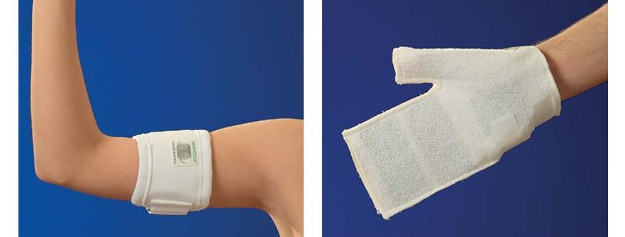 Armbandage und Handbandage