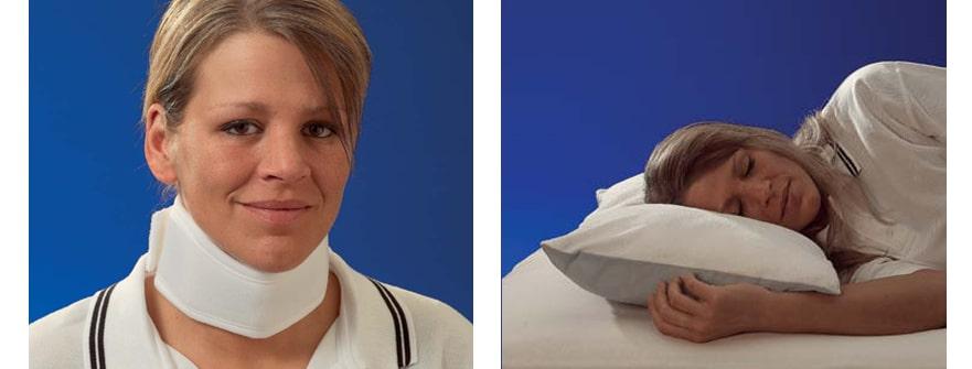 Halsbandage und Tag-/Nachtkissen